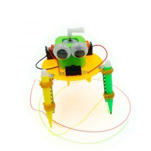 DIY Electric Graffiti Robot DIY Pedagogisk Toy Robot Assembled Toy för barn
