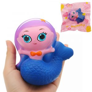 Mermaid Squishy 10 * 9.5 * 6CM Långsam Rising Med Packaging Collection Gift Soft Toy