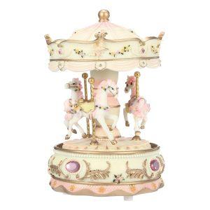 7 färger LED Flash Light Horse Classic Merry-Go-Round Carousel Music Box Födelsedagsgåva