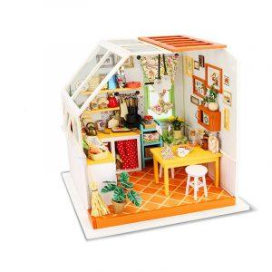 Robotime DG105 DIY Dockhus Miniatyr Med Möbler Trä Dockhus Toy Decor Craft Gift