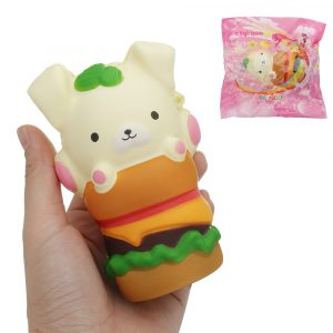Squishy Puppy Hamburger 4.6in 11.7cm Långsam Rising Cartoon Gift Collection Soft Toy