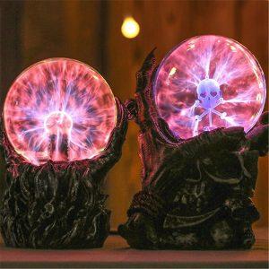 5,5 / 6,7 tums plasma boll skelett sfär ljus kristall ljus magisk skrivbord lampa nyhet ljus inredning