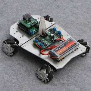 DIY 4WD ROS Smart RC Robot Car Programmerbar Bluetooth APP Control 60mm Mecanum hjul med upphängningssystem