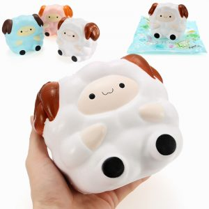 Squishy Jumbo Sheep 13cm långsammare med Packaging Collection Present Inredning Soft Squeeze Toy