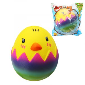 SquishyShop Egg Chick Toy 8cm långsammare med Packaging Collection Gift Soft Toy