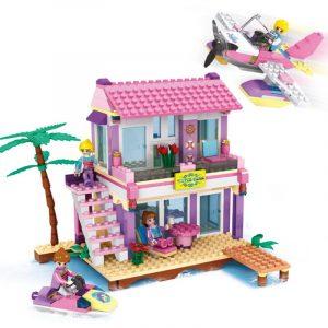 Cogo Vänner Serier 14515 Beach Villa 423 st Byggsatser för flickor DIY Tegelsten Leksaker