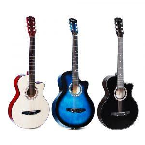 38 tums akustisk klassisk gitarr Basswood Body Musical Instrument för nybörjare