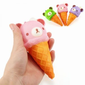 Squishy Ice Cream Bär Mjuk Långsam Rising Collection Gift Decor Squish Squeeze Toy