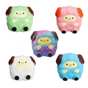 5 PCS Squishy Jumbo Sheep Lambpaket Sweet Soft Slow Rising Collection Gift Decor Toy