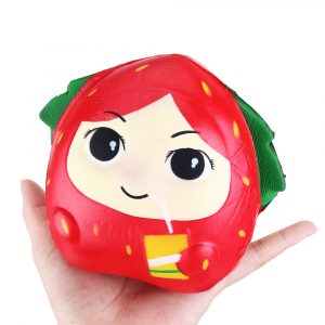 Squishy Strawberry Girl 13cm långsammare Rebound Leksaker med Packaging Gift Decor