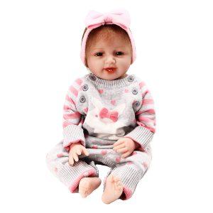 "Nyfödd Reborn Baby Girl 22 ""Lifelike Docka Realistisk Toy Christmas Present"