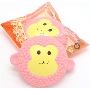 2PCS Areedy Squishy Jumbo Monkey Cake 15cm Doftande Långsam Rising Packaging Gift Decor