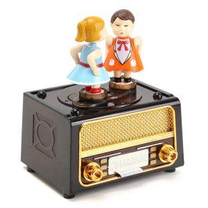 Plast Classic Music Box Retro stil Söt Barn för Kids Leksaker Gift