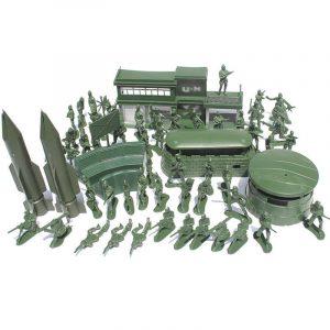 56PCS 5CM Militär Soldater Set Kit Siffror Tillbehör Modell För Barn Barn Julklappleksaker
