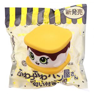 Squishy S'more Cookie Sandwich Biscuit 6CM Gullig Expression Långsam Rising Rebound Gift Decor Leksaker Med Förpackning
