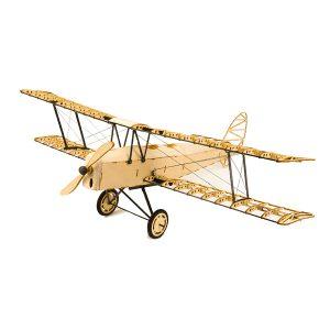 De Havilland Tiger Moth X10 400mm Wingspan RC Flygplans Statisk Modell Unassembled