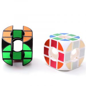 Classic Magic Cube Leksaker Round PVC Sticker Block Pussel Speed ​​Cube Sugar Color