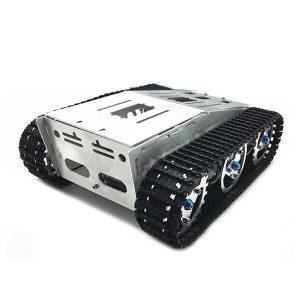 DIY självmonterad RC Robot Tank Bil Chassi Med Crawler Kit