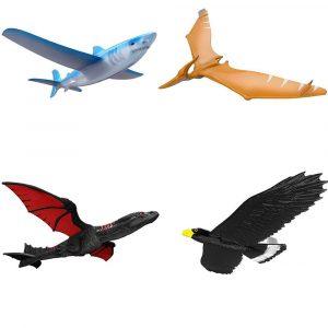 EPP-flygplan handlansering kasta gliderflygplan tröghetsskum drake örn hajplan leksak modell