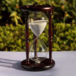 60 minuter trä vit sand glas timglas timern klocka hem kontor dekor gåva