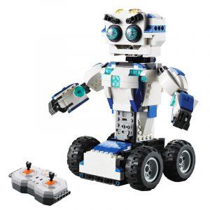 Dubbel Cada Robot Intelligent hopsättning  Pussel Pojke Elektrisk Barn Blocks Leksaker Deformerad Tank C51028W