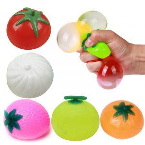 Creative Simulation Multi Shape Vent Frukt Minska Stress För Barn Barn Present Leksaker
