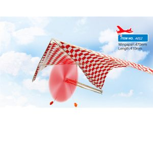 5PCS Partihandel ZT Gummi-driven Parasol Glider A012 Flygplan Plans Toy Assembly Model