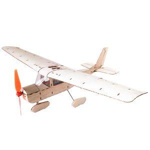 Mini Cessna 182 435mm spännvidd Balsa Trä Laserskärning RC Flygplan UTRUSTNING