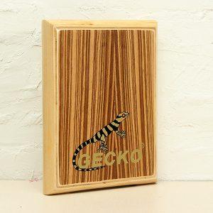 Gecko Percussion PAD-2 Zebra Wood Cajon Trum med väska