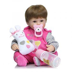 18 'Realistic Handmade Baby Dockas Girl Newborn Livlig Vinyl Alive Reborn Baby Docka Handgjorda Leksaker