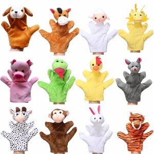 Animal Wildlife Soft Plush Story Handfingerhandske Dockor Kid Children Toy