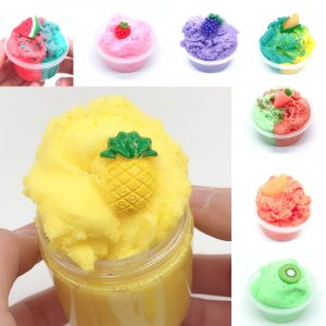 120ML Frukt Slime Borstad Crystal Cotton Clay Dekompression DIY Present Stress Reliever