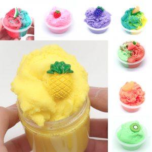 120ML Frukt Slime Borstad Crystal Cotton Clay Dekompression DIY Present Stress Reliever