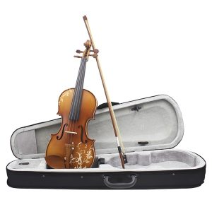 Aston 4/4 Spruce Wood Carving Violin med Bow String Rosin Mute Case AV-30