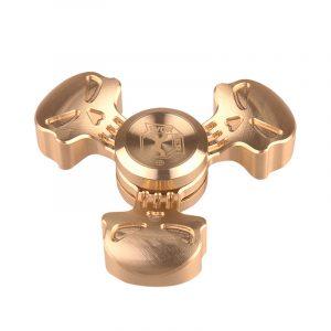 ARBETARE Brons Tri Spinner Fidget Hand Spinner EDC Fingertips Gyro Minska stress Fokus Attention Toys