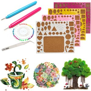 Creations Paper Quilling Kit Pincett Board Needles Slotted Tools DIY Craft