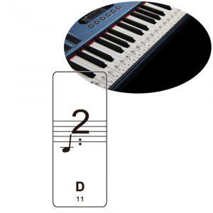 Genomskinligt Piano Keyboard Note Sticker Passar till 61/88 Key Electronic Keyboard