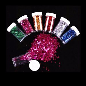 12PCS / Set Mixed Color Glitter DIY Slime Material Star Painting Konstverk Decorations Blända Bright