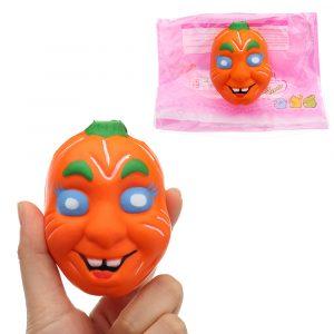 Halloween Pumpa Squishy 7,5 * 9,5 cm långsammare med Packaging Collection Gift Soft Toy