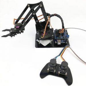 4DOF Robotarm med fjärrkontroll PS2 självmonterad med MG90s Servo för Arduino UN R3 Programmering