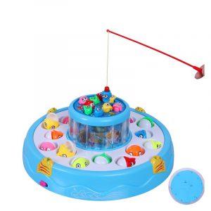 Fiske Leksaker Set barn Elektriska roterande pedagogiska gåvor magnetiska leksaker