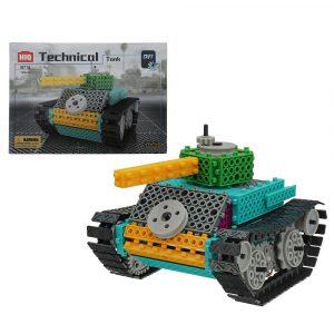 HIQ Elektrisk Byggnad Blockera Tank 145st Blockar Leksaker Bygga Pedagogisk Tegelstenar