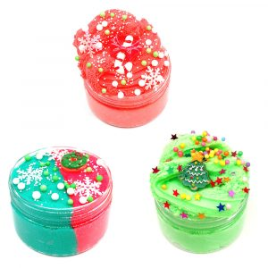 100ML Christmas Cloud Slime Squishy Scented Stress Clay Barn Toy Slam Bomull Mud Plasticine Presenter
