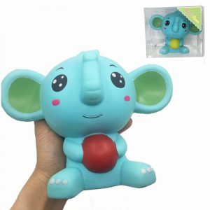 Squishy Elephant Jumbo 17cm långsammare med emballage Collection Gift Decor Soft Toy