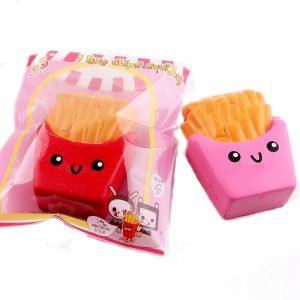 SanQi Elan Squishy Fransk Fries Chips Licensierad Långsam Rising Med Packaging Collection Gift Decor Toy