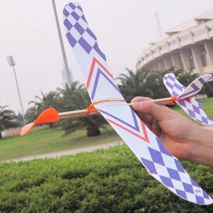5PCS DIY Skumplane Elastiskt gummiband Drivs flygplanssats modellleksak