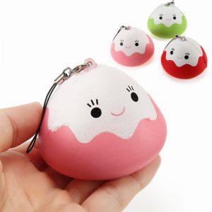 Squishy Mount Fuji Rice Ball Cake Sakta Rising Collection Gift Telefonväska Rem Decor Mjuk Toy