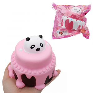 Bear Head Cake Squishy 11 * 11,5 cm långsammare med Packaging Collection Gift Soft Toy