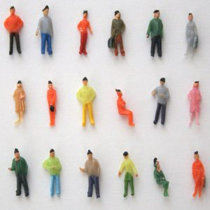1:75 Skala OO Mätare Handmålade Layout Modell Tåg Människor Figur