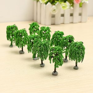 10PCS DIY Building Sand Table Modell Material Scene Willow Tree 6cm